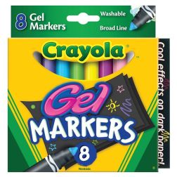 Crayola 8 Count Gel FX Washable Markers